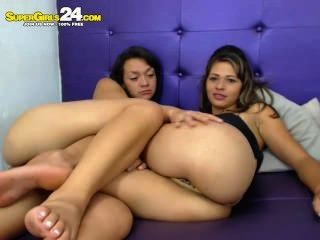 Two Very Hot Lesbian Girls Having Fun Pussy