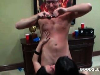 Orgy Party With Smashing Babes Sucking Hard Peckers