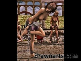 Dravuor Uses His 3d Artwork Talents To Put Beautiful Women In Peril