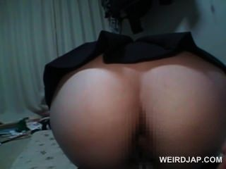 Japanese School Babe Gets Ass Hole Toyed Hardcore