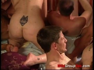 Last Weekend German Gangbang Orgy