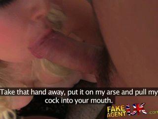 Fakeagentuk Mistaken Job Interview For Sexy Blue Eyed Blonde Girl