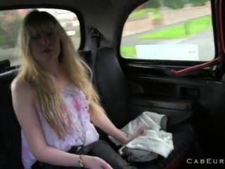 Hairy Pussy Blonde Fucked In Taxi