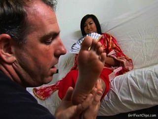 Worshipping Asian Girls Small Feet