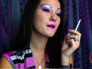 Emily R. Smoking A Capri On Webcam