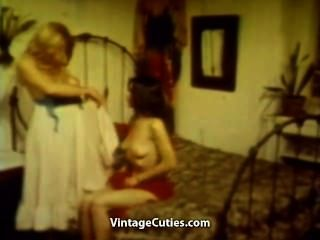 Two Girls Warm Up Before Foursome Orgy