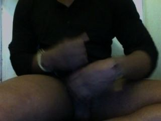 Stroking My Big Black Cock