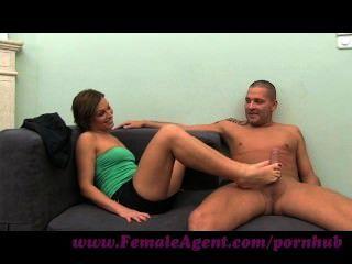 Femaleagent. Milf Indulges Stud In His Foot Fetish