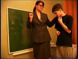 Granny Teacher N Teen Boy