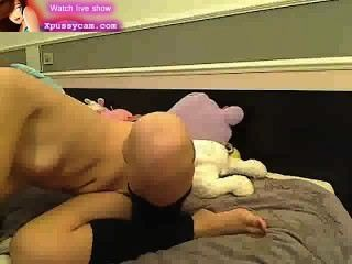 Sexy Brunete Play With Dildo