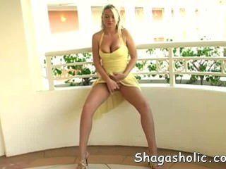 Alison Masturbating On Terrace - Shagasholic-