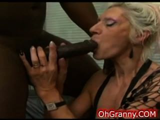 Horny Blonde Granny Getting So Wet