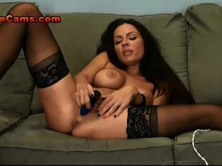 Gorgeous Brunette Milf Bends Over