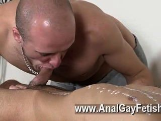 Gay Xxx Brit Youngster Oli Jay Is Bound Down To The Table, His Slick And