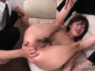 Asian Babe Spreads Her Ass Wide Open
