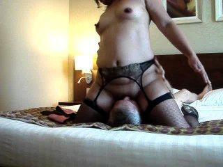 Asian Wet And Riding Well