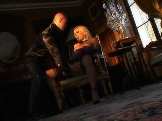 Blonde French Slut Megane Squirts & Anal Fucked