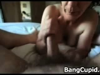 Mature Gives Hot Handjob And Blowjob