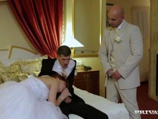 Cheating Redhead Bride Double Anal