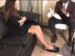 Latina Tickled In Stockings