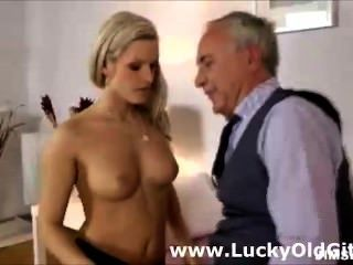 Mature British Guy Fucks Girl In Stockings