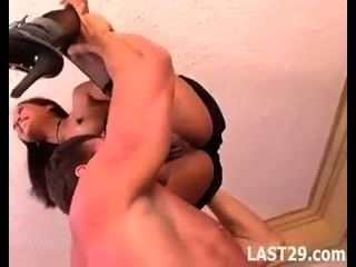 Asian In Fishnets Fucked
