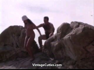 Natural Nudist Girls At A Wild Beach