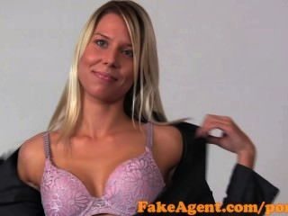 Fakeagent Classy Blonde Takes Two Dicks In Casting
