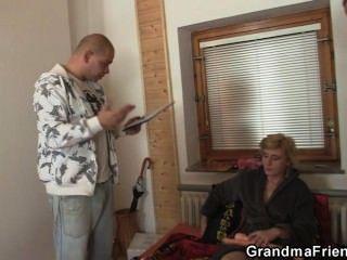 Sex Toys And Two Cocks For Naughty Grandma