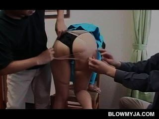 Petite Jap Sweetie Taking Two Craving Dicks In Nasty 3some