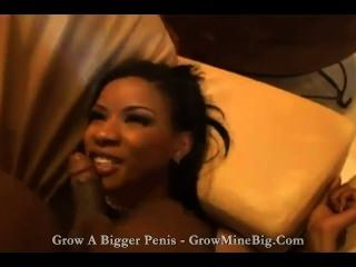 Black Chick And Two Big Black Dicks