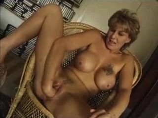 Huge Tit Milf Sucks Cock And Fist Herself.