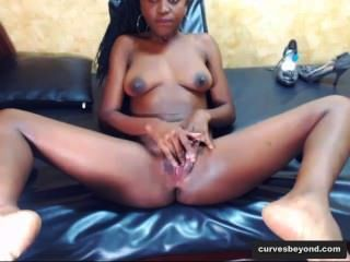 Ebony Babe Opens Her Hole Wide! Www.curvesbeyond.com