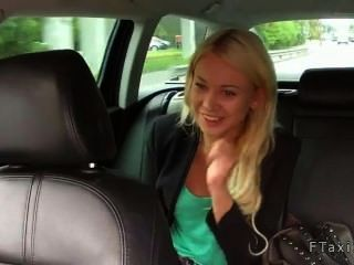 Blonde Sucks Dick And Bent Over Fucked In Fake Taxi