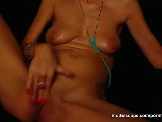 Modelscope Model Shannon4xxx Fingers Her Wet Shaved Pussy