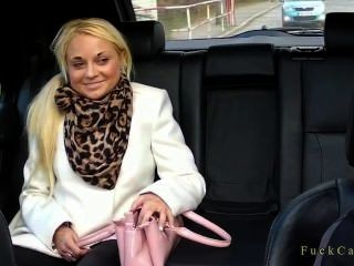 Shaved Pussy Blonde Secretary Fucked In Fake Taxi