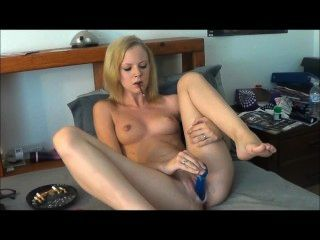 Amateur Smoking More And Dildo