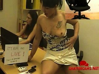 Live Latina Office Striptease
