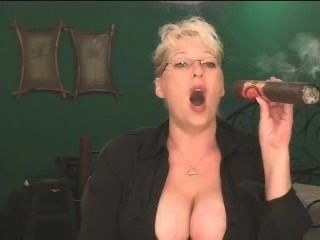 Crazy Huge Cigar And Big Mature Tits!