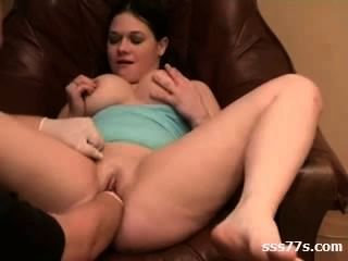 Delicious Shaved Chubby Fisting