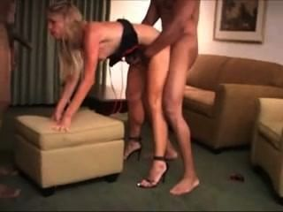 Two Big Black Cock Is Healing For White Slut And Anal Creampie