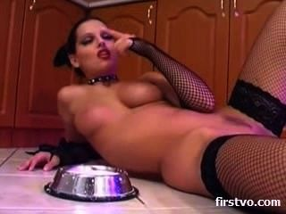 Solo Girl In The Kitchen With Toys