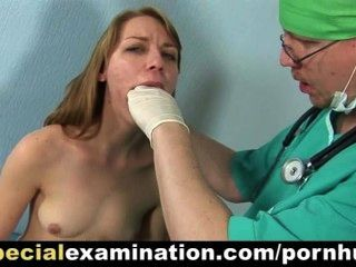 Shy Blonde Lady Gets Her Pussy Examined By Gynecologist
