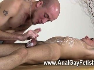 Gay Fuck Brit Youngster Oli Jay Is Roped Down To The Table, His Smooth
