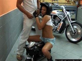 Morotbike Teen Samantha Gets Big Tits Fucked