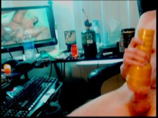 Big Cock Fucking Fleshlight On Webcam Show