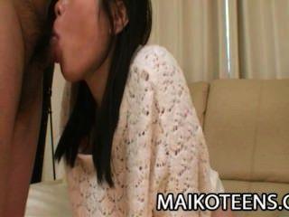Akari Maeda - Charming Japanese Teen Filled With Creamy Cum