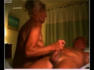 Genital Massage - Old Couple