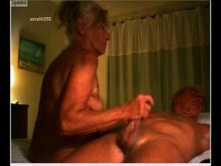 Genital Massage - Old Couple