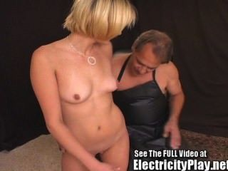 Thin Bitch Bound And Electro Shocked!!